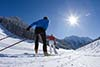 Cross-country skiing on prepared tracks in the Zillertal valley - (c) Bernd Ritschel Zillertal Tourismus GmbH